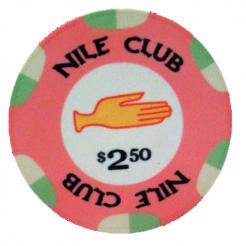Bundle of 25 pink nile club poker chips