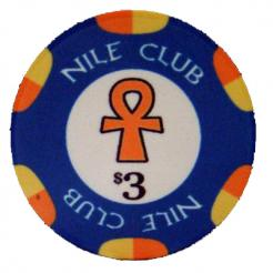 Bundle of 25 blue $3 nile club poker chips
