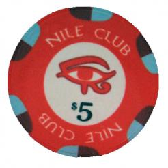 Bundle of 25 red nile club poker chips