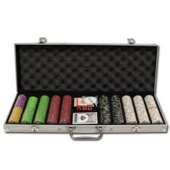 500 bluff canyon casino poker chip set in an aluminum case
