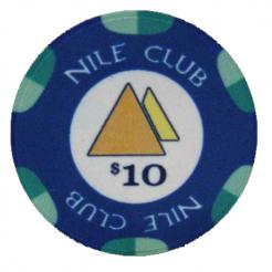 Bundle of 25 blue $10 nile club poker chips