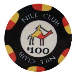 Bundle of 25 black nile club poker chips