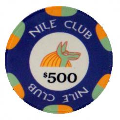 Bundle of blue $500 club poker chips