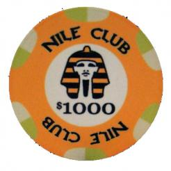bundle of 25 yellow nile club poker chips