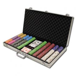 750 bluff canyon poker chip set in an aluminum case