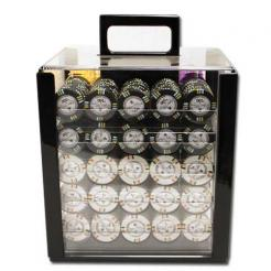 1000 bluff canyon poker chip set in an acrylic chip carrier with 10 chip trays