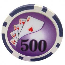 Bundle of 25 purple yin yang poker chips