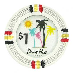 bundle of 25 white desert heat poker chips