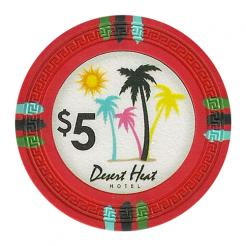 bundle of 25 red desert heat poker chips