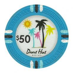 bundle of 25 light blue desert heat poker chips