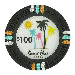bundle of 25 black desert heat poker chips