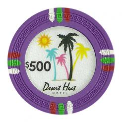 bundle of 25 purple desert heat poker chips