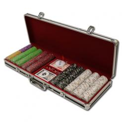 500 Desert Heat Poker Chip Set in a black aluminum case