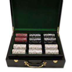 500 Desert Heat Poker Chip Set in a humidor stlye case
