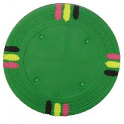 bundle of 25 green 12 stripe poker chips