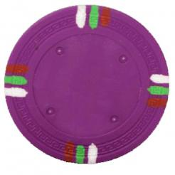 bundle of 25 Purple 12 stripe poker chips