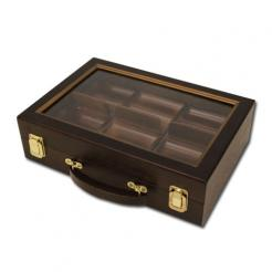 300 Chip Walnut Poker Chip Case