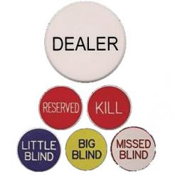 complete poker button set