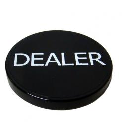 standard size 2 black dealer button