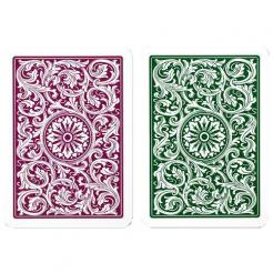 green and burgundy copag playing cards