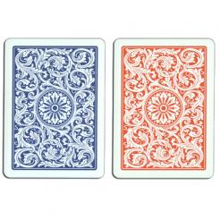 blue and red copag playing cards
