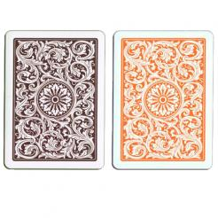 orange and brown copag playing cards