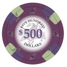 Bundle of 50 Purple Poker Knights Poker Chips