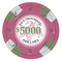 Bundle of 50 Pink Poker Knights Poker Chips