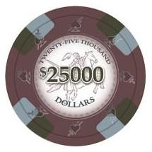 Bundle of 50 Brown Poker Knights Poker Chips