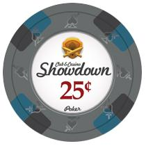 Bundle of 50 Gray Showdown Poker Chips