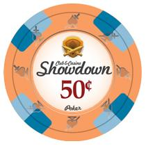 Bundle of 50 Orange Showdown Poker Chips