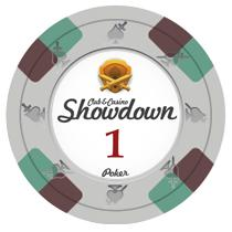 Bundle of 50 White Showdown Poker Chips