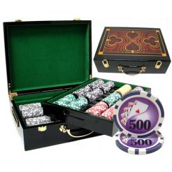 500 yin yang poker chip set in a humidor style chip case