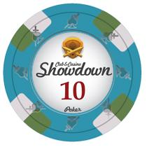 Bundle of 50 Blue Showdown Poker Chips