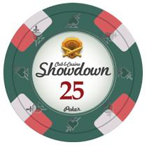 Bundle of 50 Green Showdown Poker Chips