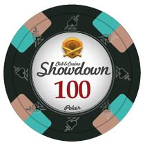 Bundle of 50 Black Showdown Poker Chips