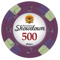 Bundle of 50 Purple Showdown Poker Chips