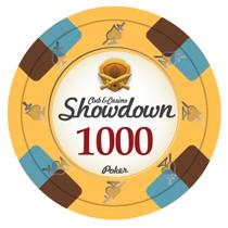 Bundle of 50 Yellow Showdown Poker Chips