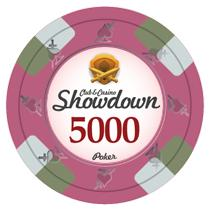 Bundle of 50 Pink Showdown Poker Chips