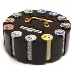 300 yin yang poker chip set in a chip carousel