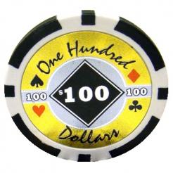 bundle of 25 black black diamond poker chips