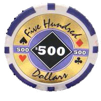 bundle of 25 purple black diamond poker chips