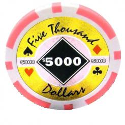 bundle of 25 pink black diamond poker chips