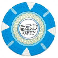 bundle of 25 light blue The Mint poker chips
