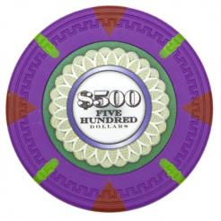 bundle of 25 purple The Mint poker chips