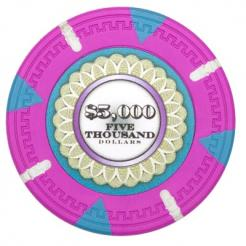 bundle of 25 pink The Mint poker chips
