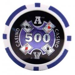 bundle of 25 purple Casino Ace poker chips