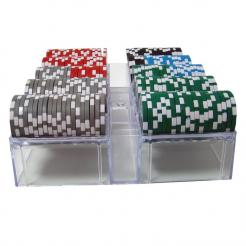 200 casino ace poker chip set