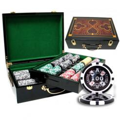500 casino ace poker chip set in a humidor style case