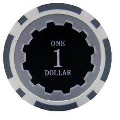 bundle of 25 white eclipse poker chips